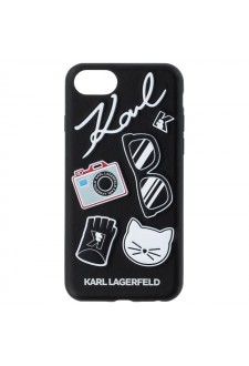 Karl Lagerfeld Pins Hard Case Black pro iPhone 7/8