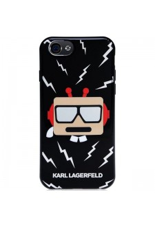 Karl Lagerfeld Karl Robot TPU Case Black pro iPhone 6/6S