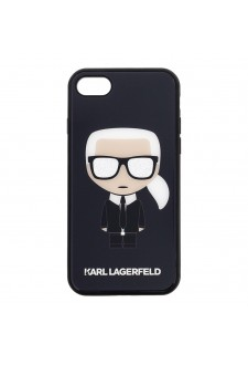 Karl Lagerfeld Iconic Full Body Glitter Pouzdro pro iPhone 7/8 Black