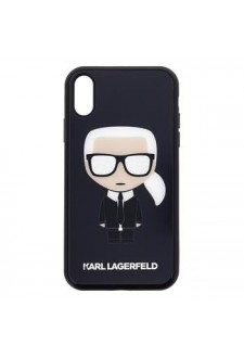 Karl Lagerfeld Full Body Iconic Glitter Pouzdro pro iPhone XR Black
