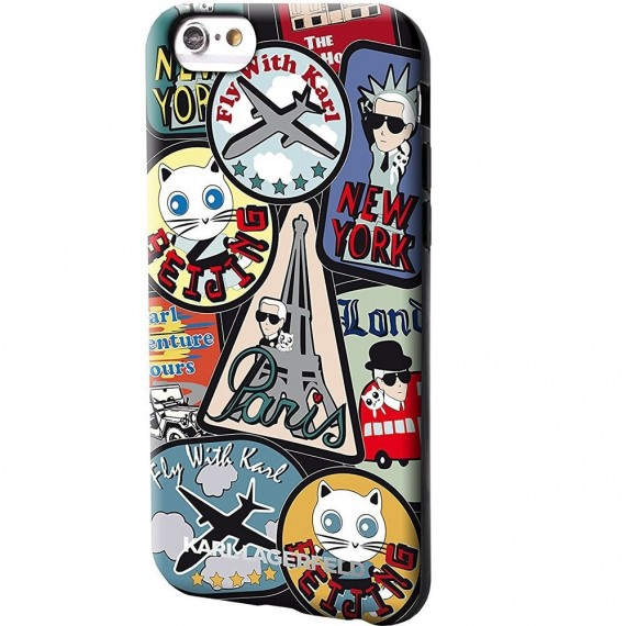 Karl Lagerfeld TPU Pouzdro Around The World Paris pro iPhone 6/6S
