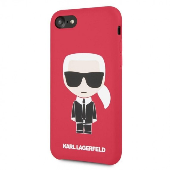 Karl Lagerfeld Full Body Silikonové Pouzdro pro iPhone 7/8 Red
