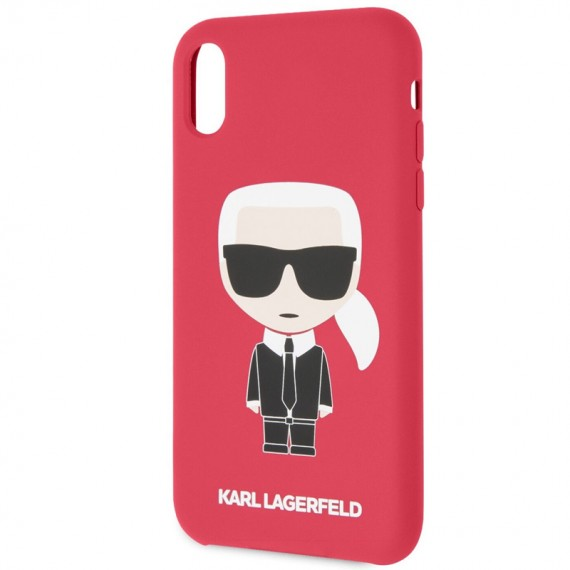Karl Lagerfeld Full Body Iconic Silikonové Pouzdro pro iPhone X/XS Red