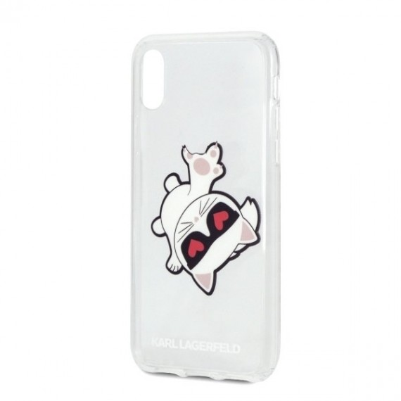 Karl Lagerfeld Fun Eaten Apple Black Hard Case pro iPhone XR