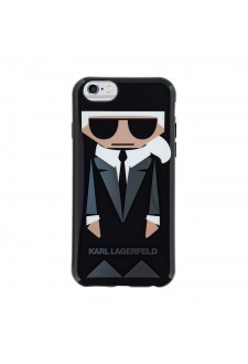 Karl Lagerfeld Karl and Choupette TPU Case Black pro iPhone 6/6S