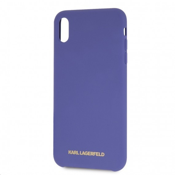 Karl Lagerfeld Gold Logo Silicone Case Violet pro iPhone XR