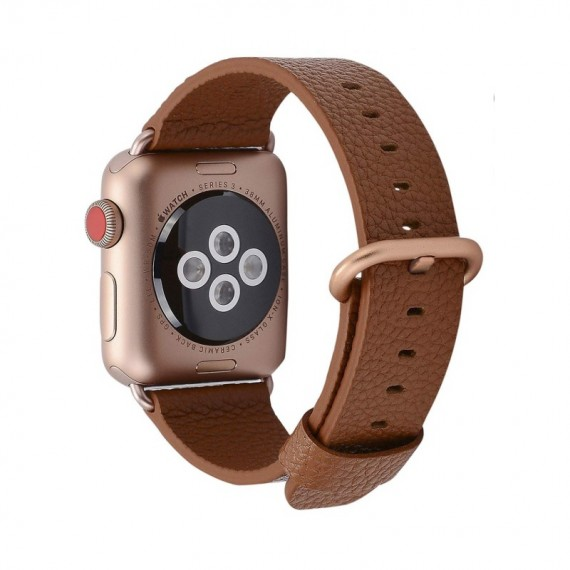 Apple Watch 42 / 44mm Brown - Leather Colour Backle Band For
